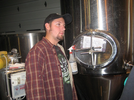 Brewer Chris Kirk contemplating the similarities between beer and music.