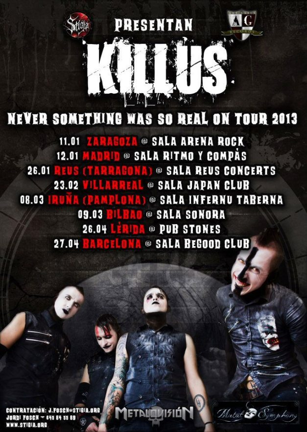 Killus2013tour