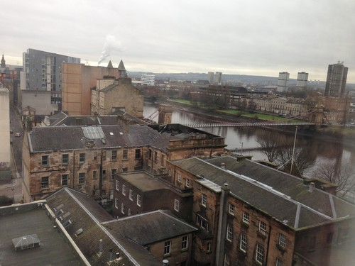 Glasgow seen from our hotel