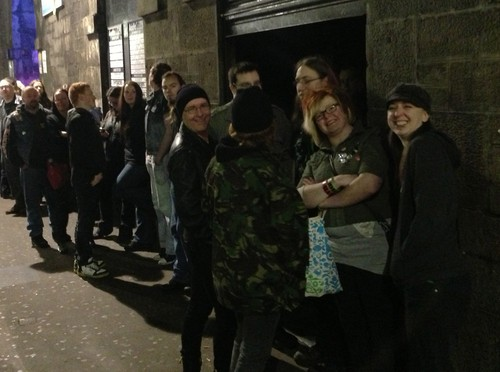 Painheads lining up outside the venue in Glasgow