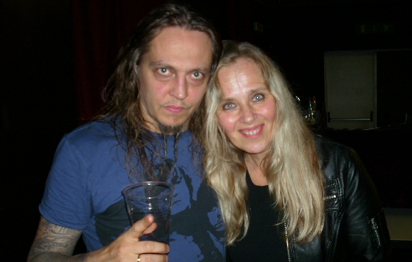 Peter Tägtgren and Tarja Virmakari in October 2011