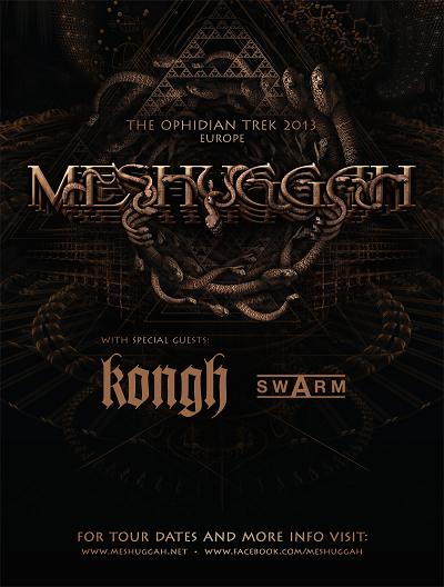 KONGH tour with MESHUGGAH