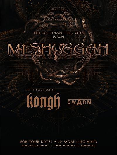 KONGH tour with MESHUGGAH