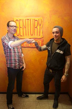 (Jens Prüter / Head Of A&R Century Media Records & Jamie Graham / Label Manager Siege Of Amida Records)