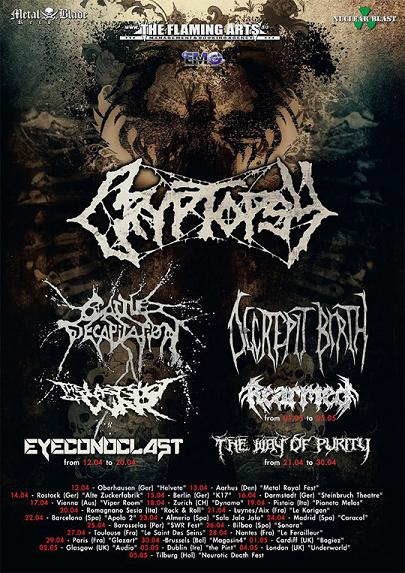 CRYPTOPSY tour 2013