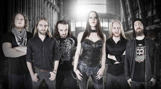 from left to right: Henk Vonk, Arjan Rijnen, Ruben Wijga, Floor Jansen, Jord Otto, Mattias Landes