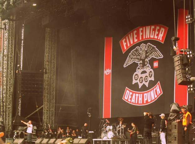 FIVE FINGER DEATH PUNCH Download Festival 2013
