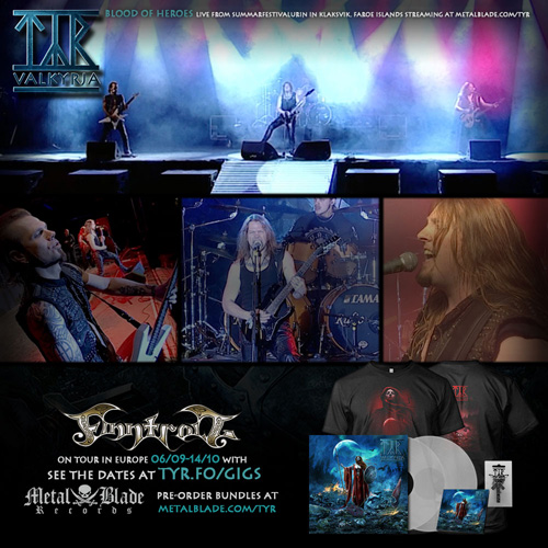 Tyr Releases Blood Of Heroes Video With Live Footage From Faroe Islands Music Festival Metal Shock Finland World Assault