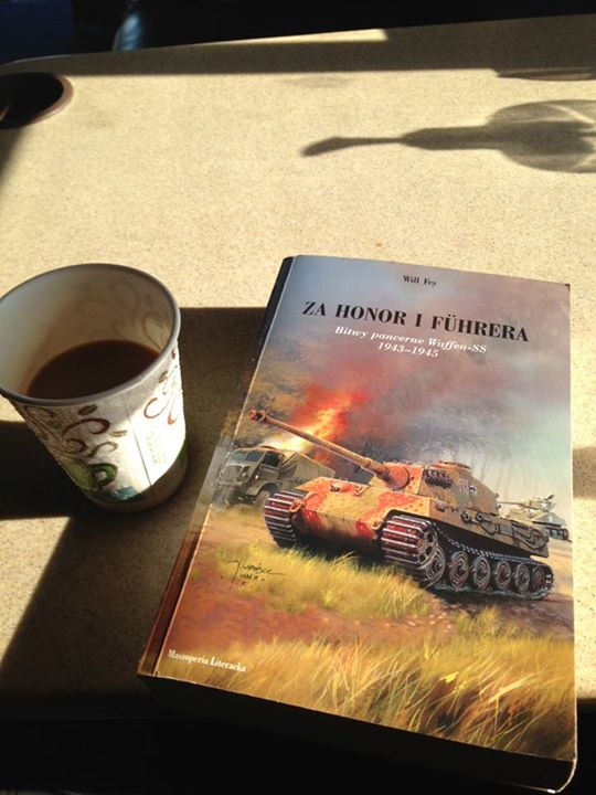 Peter's morning coffee and reading