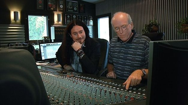 Tuomas Holopainen with Don Rosa in the Studio