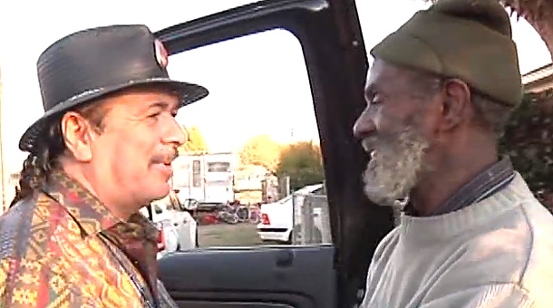 Reunited: Santana and Malone meet again