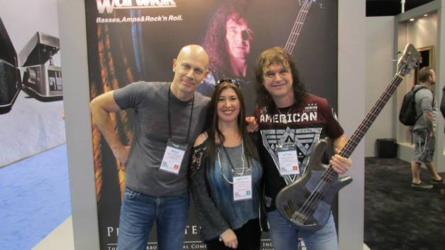 Sandy with Wolf Hoffmann and Peter Baltes, ACCEPT