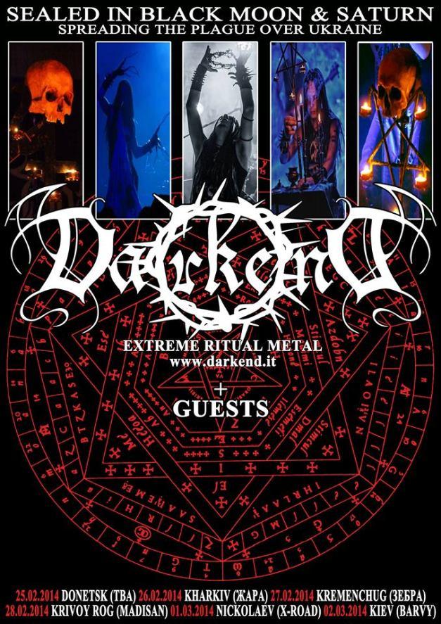 Darkend TOUR poster