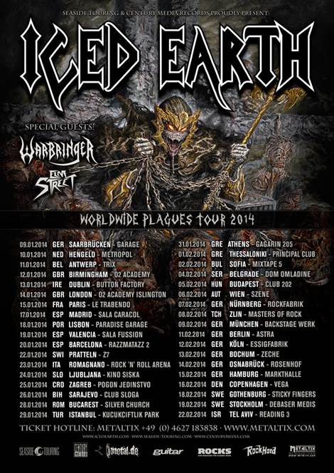Iced Earth - tourdates 2014