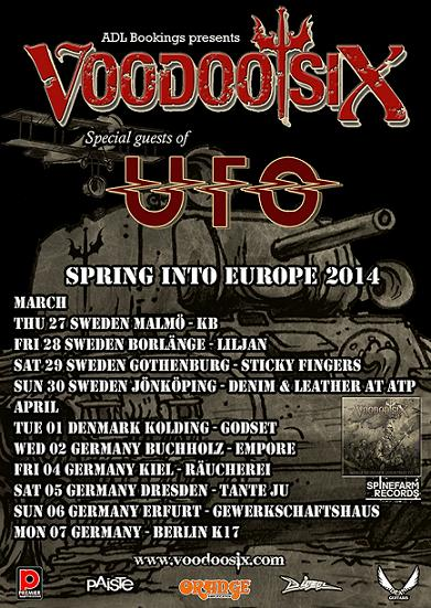 Voodoo Six support UFO