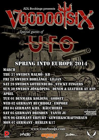 Voodoo Six support UFO