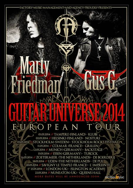 GUS G and Marty Friedmann