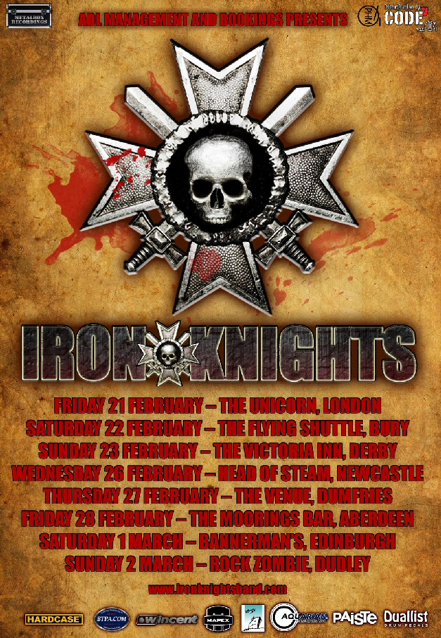 Iron Knights UK Tour FebMarch 2014