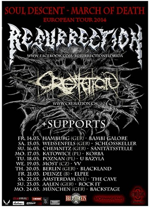 RESURRECTION - March of Death European Tour 2014