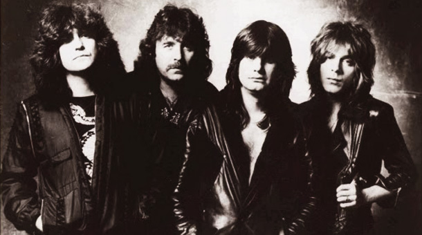 Daisley, Kerslake, Osbourne and Rhoads in Blizzard Of Ozz