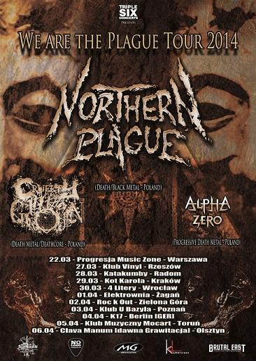 NORTHERN PLAGUE tour 2014