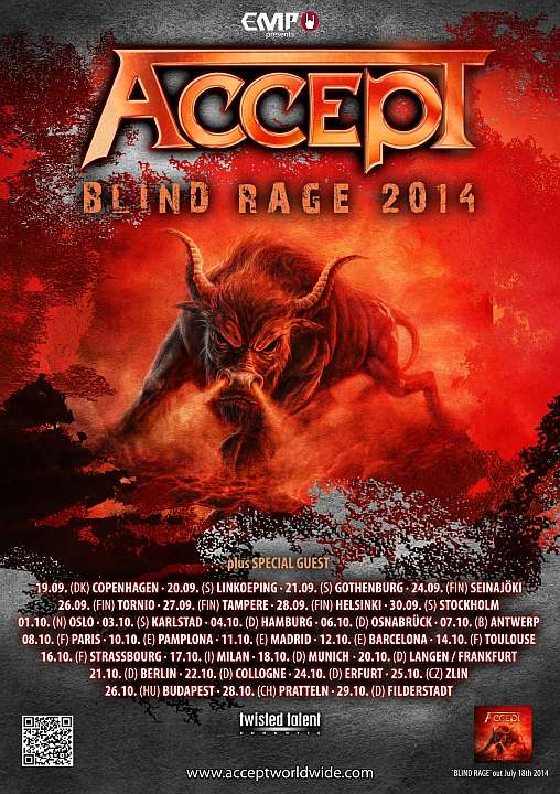 Accept Blind Rage Tour 2014