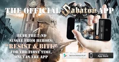 SABATON- new Smartphone App