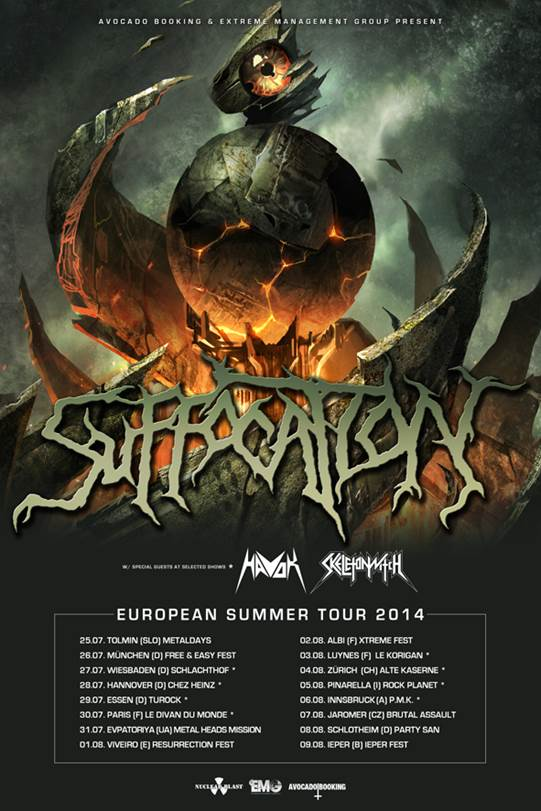 SUFFOCATION Europe Tour 2014 summer