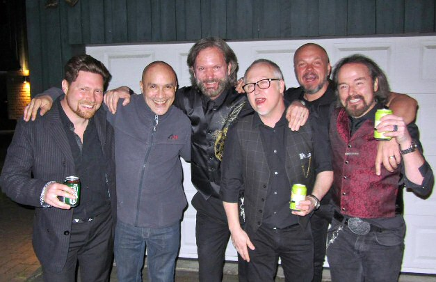 (L-R) Samir, Dan Reed, Fredrik, Olle, Tommy, and Johan, April 2014