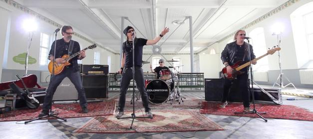 "2011 lineup, performing in the video for ""Soul Generator"":  Fredrik, Johan, Olle, and Jonas Sandquist"