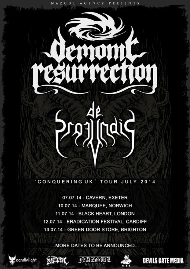 Demonic Resurrection Conquering UK Tour Poster