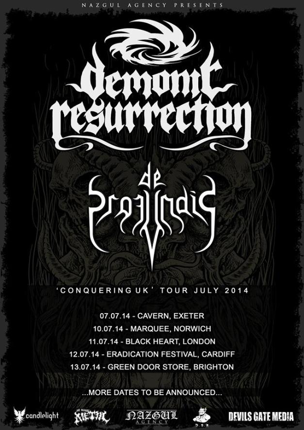 Demonic Resurrection Conquering UK Tour Poster