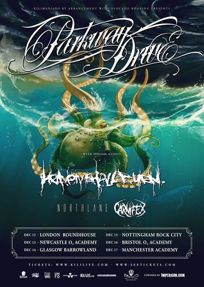 HEAVEN SHALL BURN UK tour summer 2014