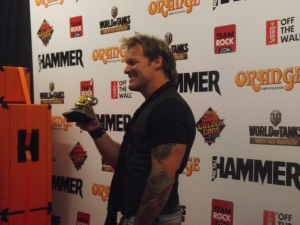 Chris Jericho With IRON MAIDEN's 'Best Uk Band' Golden God Award 2014