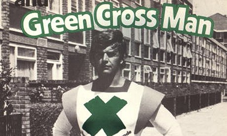 Playing it safe … David Prowse as Green Cross Man in 1977.