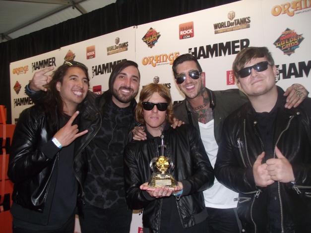 OF MICE & MEN Winners Of 'Breakthrough Artist' Golden God Award 2014