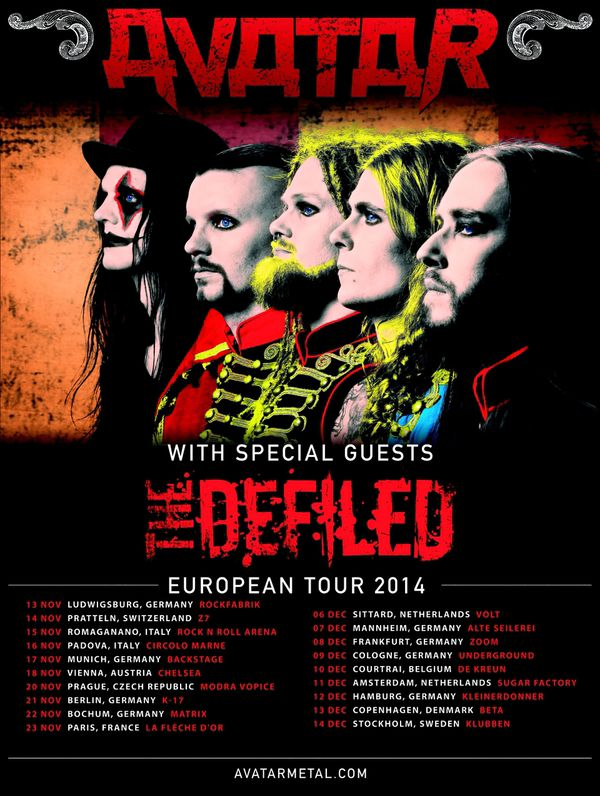 Defiled Tour 2014