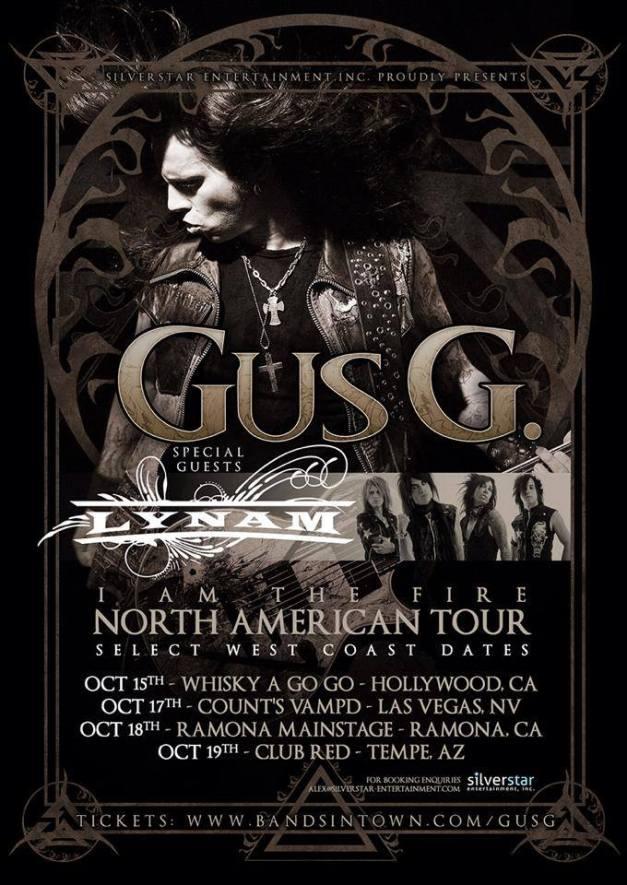 Gus G American Tour 2014