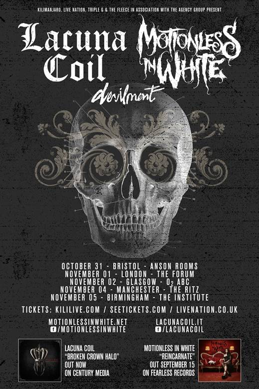 LACUNA COIL and Motionless In White tour 2014