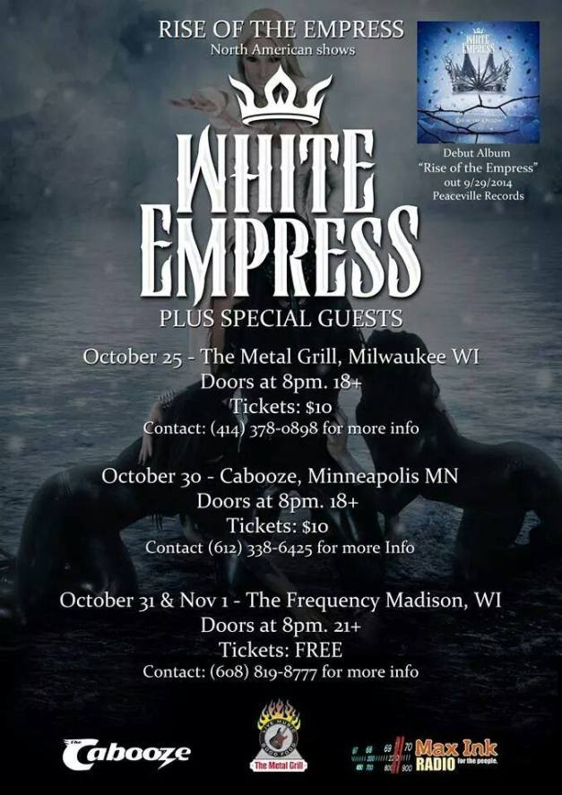 WhiteEmpress-first-shows-flyer