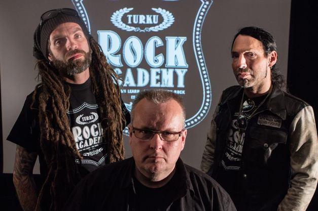 c.2014 Rock Academy Finland:  L to R Mark Bertenyi, Tomi Arvas, Douglas Blair