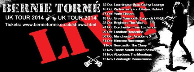 Bernie Torme tour