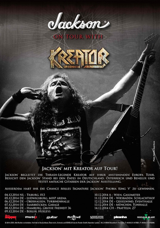 Kreator and Jackson guitar tour 2014