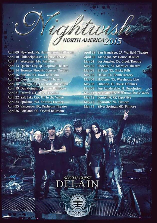 Nightwish-US-tour2015