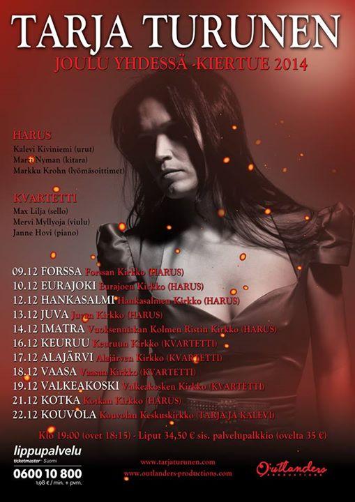 TarjaTurunen-Xmas-tour 2014-flyer