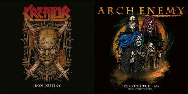 ARCH ENEMY and KREATOR split 7