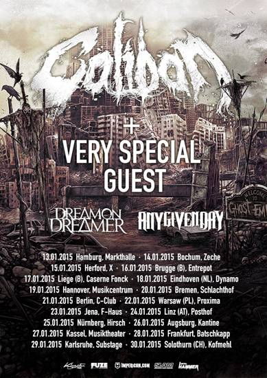 CALIBAN tour 2015