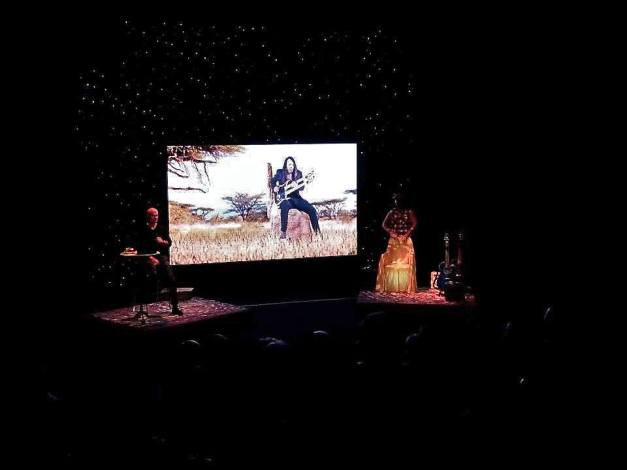 """Malajka"" premiere with video at production rehearsal — at Riksteatern/The Swedish National Touring Theatre"