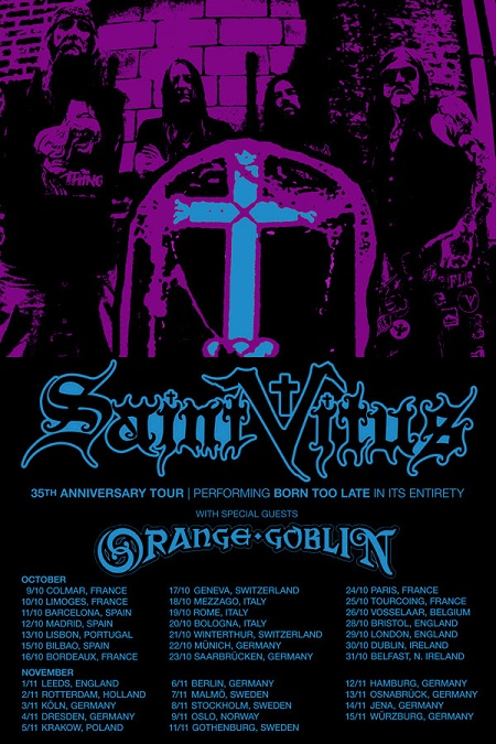 SAINT VITUS europe tour 2014