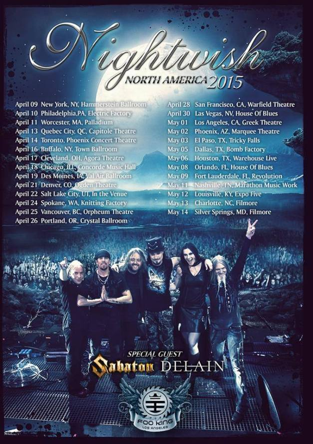 Sabaton-Nightwish-NorthAmerica2015